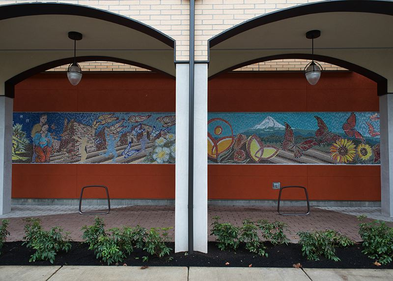 by: NEWS-TIMES PHOTO: CHASE ALLGOOD - Virginia Garcia Health Center mural.