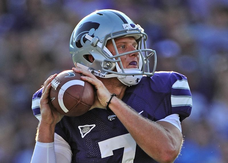 by: COURTESY OF KANSAS STATE UNIVERSITY - Collin Klein, Kansas State quarterback, has carried the ball a lot while blending in the pass.