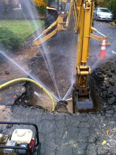 by: CITY OF WEST LINN - Water main breaks occur on a monthly basis in West Linn. The city hopes to pass a water rate increase in March to raise funds to repair and replace water transmission lines.