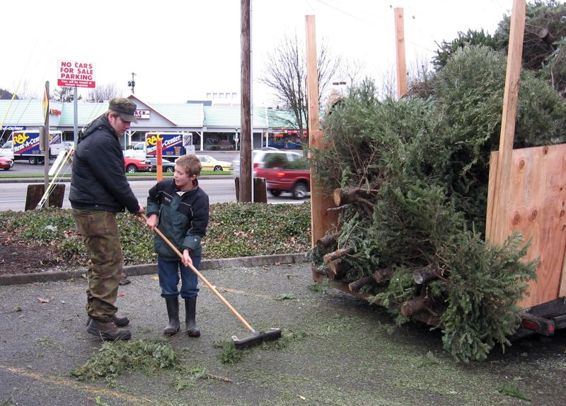 by: CONTRIBUTED PHOTO: BOY SCOUT TROOP 707 - Gresham Boy Scouts Troop 707 has been recycling Christmas trees since 1990 as a fundraiser to offset summer camp fees for troop members.
