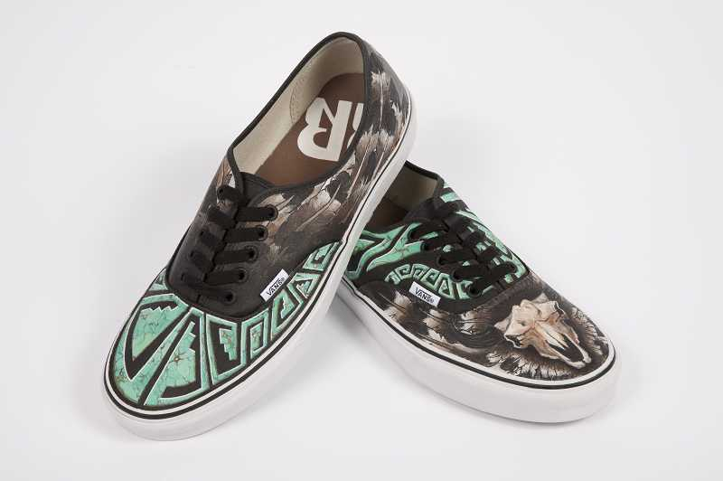 by: SUBMITTED PHOTO - This is a winner from last year's Vans Custom Culture competition. High school artists can enter their designs of Vans shoes in a nationwide competition, the grand prize of which is $50,000 for the school art department.