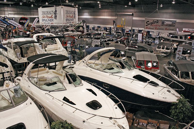 by: COURTESY OF PORTLAND BOAT SHOW - Hundreds of boats, both new and used, will be on hand for viewing and purchase at the Portland Boat Show, Jan. 9-13 at the Expo Center.