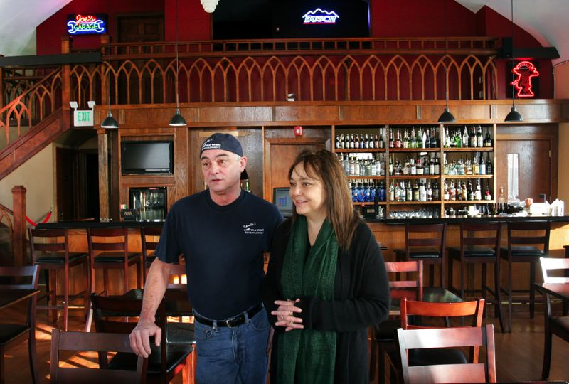 by: OUTLOOK PHOTO: JIM CLARK - Michael and Deanna Spinella opened their restaurant Dec. 6 in the former home of the Zion Evangelical Church.