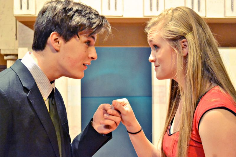 by: CONTRIBUTED PHOTO: ONALEE DUHRKOOP - Erik Scott and Rachel Lawrence play the starcrossed lovers in Shakespeare's 'Romeo and Juliet,' which Black Swan Youth Theatre will present Jan. 11-19 at Portland Lutheran School.