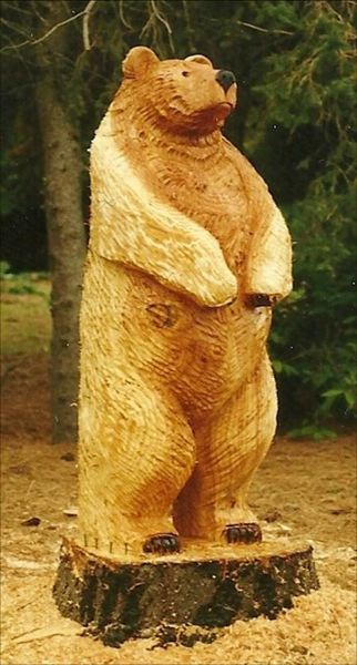 by: CONTRIBUTED PHOTO - This wooden bear statue was stolen from a Cedar Mill resident's front yard on Saturday, Jan. 5.
