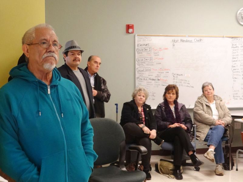 by: COURTESY PHOTO - Jose Jaime listens to city leaders discuss avenues to a better life for Cornelius Latinos during a town meeting Saturday.