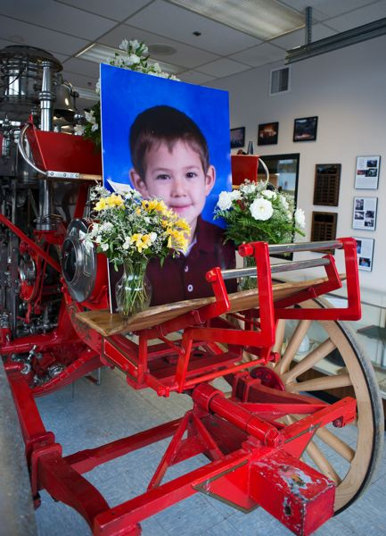 Forest Grove firefighters erected a memorial to little Jacob inside the fire station.