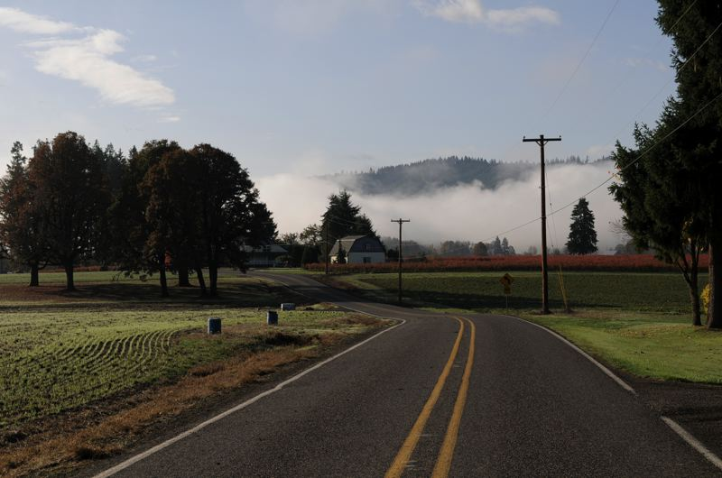 by: COURTESY PHOTO: WASHINGTON COUNTY VISITORS ASSOCIATION - The back roads of the proposed Tualatin Valley Scenic Bikeway offer cyclists pastoral, panoramic views such as this one.