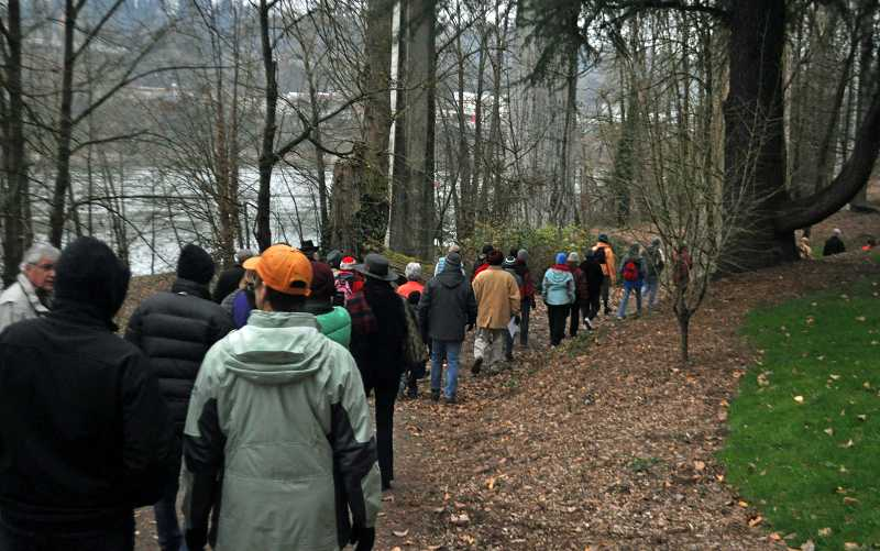 by: TONIA MCCONNELL - About 40 people participated in the January Centennial Heritage Walk on Jan. 5.