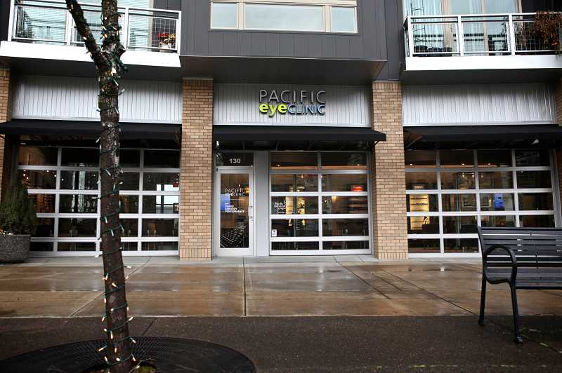 by: TIMES PHOTO: JAIME VALDEZ - Pacific University's Pacific Eye Clinic Beaverton opened last August in one of the few currently active retail spaces at The Round at Beaverton Central.
