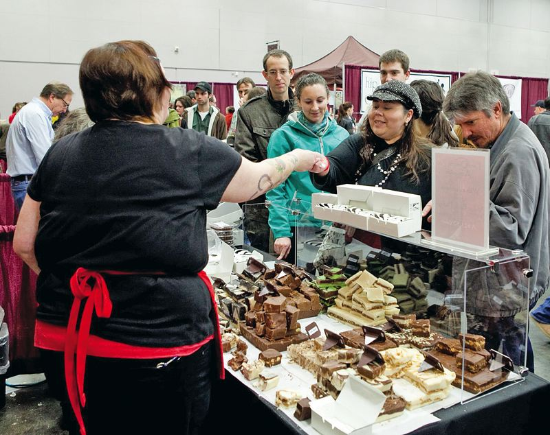 by: COURTESY OF ANNE ADAMS PHOTOGRAPHY - Make plans now for the ChocolateFest, Jan. 18-20 at Oregon Convention Center. About 80 exhibitors will be there with all good things chocolate.