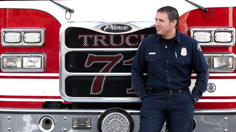 by: OUTLOOK PHOTO: JIM CLARK - Lt. Eric Byrne is the Gresham fire department's  2012 firefighter of the year.