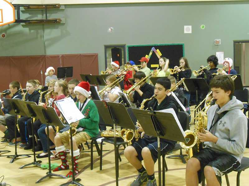 by: TIDINGS PHOTO: JORDY BYRD - The jazz band performed during the holiday breakfast on Dec. 20