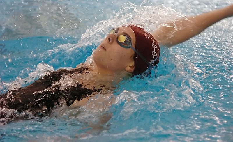 by: DAN BROOD - TALENTED -- Sherwood senior Emily Stevens placed in both the butterfly and backstroke at state last year.