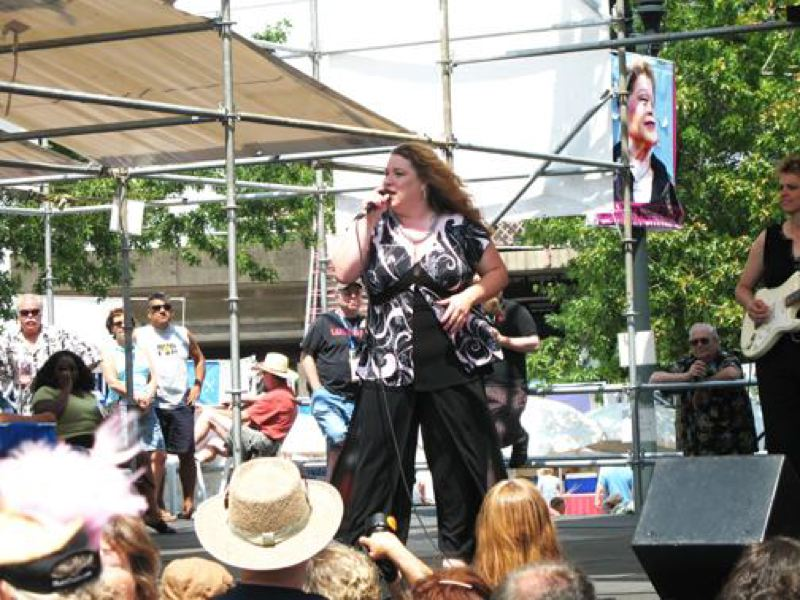 by: SUBMITTED - Rae Gordon performs at the 2008 Waterfront Blues Festival's NW Women in Rhythm & Blues show.