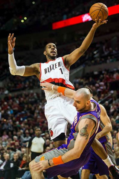 by: TRIBUNE PHOTO: CHRISTOPHER ONSTOTT - LaMarcus Aldridge of the Trail Blazers will be considered for a spot in the NBA All-Star Game.