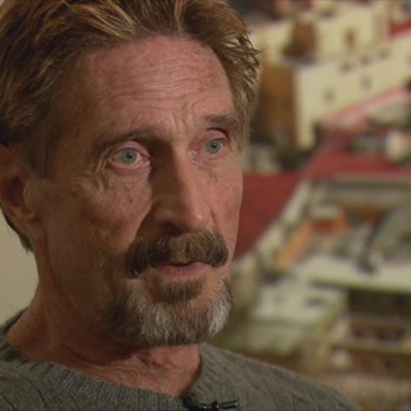 by: COURTESY OF JUSTIN BEACH: KOIN LOCAL 6 - John McAfee talked Saturday with KOIN Local 6 reporter Lisa Balick in his first interview with a Portland TV reporter.