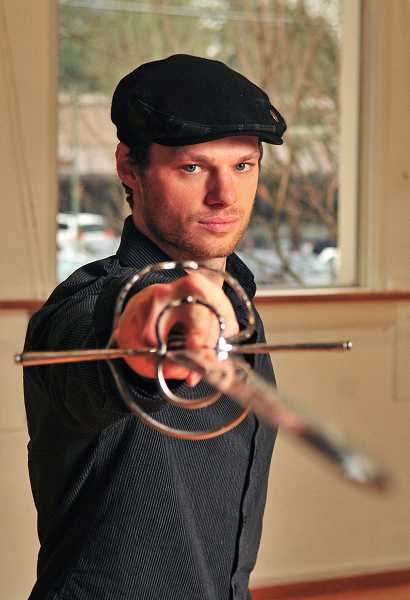by: REVIEW PHOTOS:VERN UYETAKE - Kendall Wells, a fight master and actor, will teach sword fighting and stunt skills at the Lakewood Center for the Arts starting Saturday. Two sessions are planned.