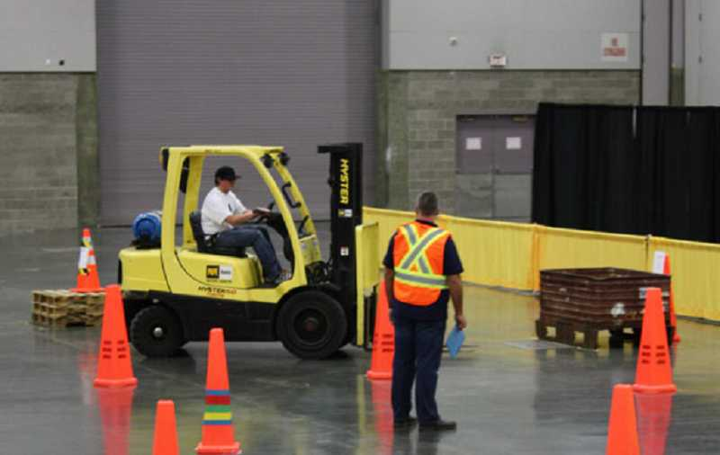 "by: SUBMITTED PHOTO - Teams will compete in the Columbia Forklift Challenge on March 5 at the Occupational Safety and Health Conference. Above right, keynote speaker Jeff ""Odie"" Espenship will discuss safety and performance during the conference."