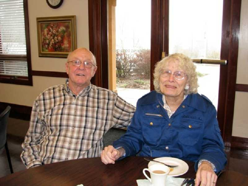 by: SUBMITTED PHOTO - Regulars at the WLACC lunches, Lloyd and Lois Haatia kept each other and all of the participants at the center company for years.
