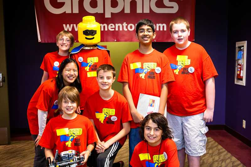 by: SUBMITTED PHOTO  - The LEGO Megos from Rosemont Ridge Middle School received the Advancement to Championship Event award and will move on to state.
