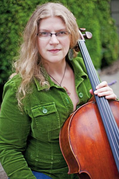 by: COURTESY OF JEN AND CHRIS CREED - Anna Fritz, of Portland Cello Project, plays at Secret Society Ballroom Jan. 17.