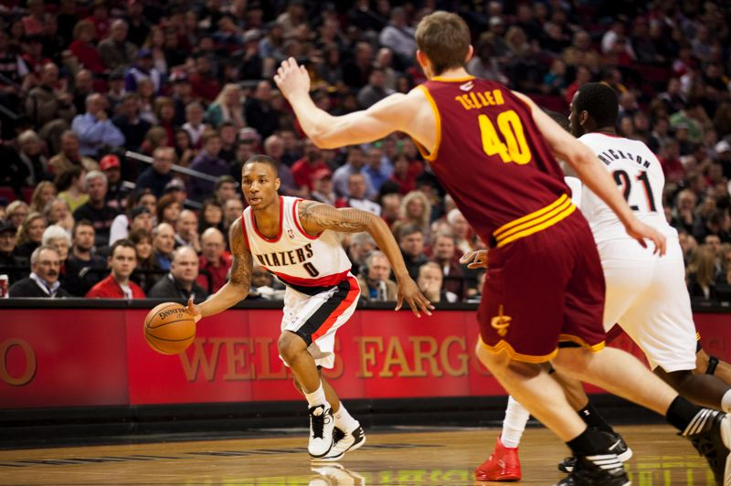 by: TRIBUNE PHOTO: MEG WILLIAMS - The Cleveland Cavaliers made guarding Damian Lillard their priority on Wednesday, putting a bigger player on him as much as possible, and Lillard wasn't able to score from the field until late in the game.