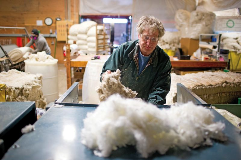 by  pamplin media group  christopher onstott   richard levine sorts and processes organic cotton pamplin media group   avoiding toxic chemicals in your couch mattress  rh   portlandtribune