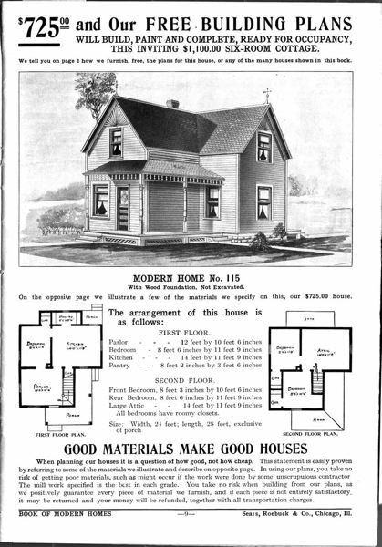 by: CONTRIBUTED PHOTO: SEARS ROEBUCK CATALOG ARCHIVES - Duane Ely purchased materials and plans for the Victorian home through the Sears Roebuck Catalog. It was originally built on Hood Avenue.