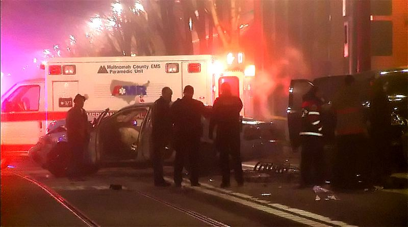 by: KOIN LOCAL 6 - Four people were hospitalized and one woman was killed in a vehicle accident Sunday morning.
