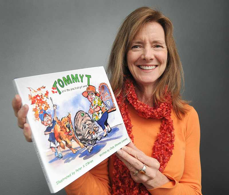 by: REVIEW PHOTO: VERN UYETAKE - Cinda Stevens Lonsway's book was published as a surprise Christmas gift by her husband. West Linn artist Peter X. O'Brien illustrated the book.