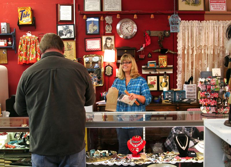 by: OUTLOOK PHOTO: JIM CLARK -  Grandma's Store owner Margery Hansell moved her business to Gresham last year, after four years in Boring, to increase her customer base.