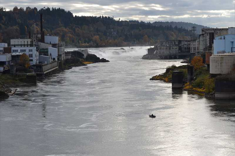 by: KENDRA FRANKLE - Modern-day image of Willamette Falls.
