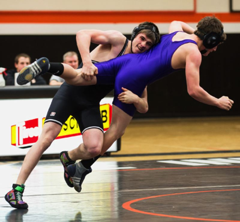 by: JEREMY DUECK - Scappoose's Justin Couch takes down an Astoria wrestler during last week'' double dual in Scappoose. The Indians rolled over Seaside and Astoria, giving up just one weight on the evening. The Indians would go on to take fourth at the Oregon Wrestling Classic in Redmond over the weekend.