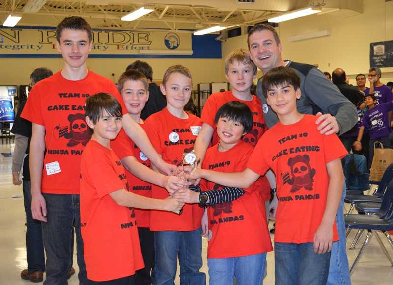 The Cake Eating Ninja Pandas won an ACE trophy and will compete in the state competition later this month. The team is made up of Ethan Schaezler, Reed Slobodin, Brendan Schaezler, Jackson Friess, Matt Leungpathomaram, AJ Rise, coach Mark Friess and Austin Emami.