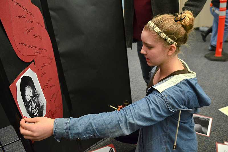 Gigi Gallagher helped create an exhibit about the Rwandan genocide.