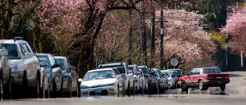 by: TRIBUNE PHOTO: CHRISTOPHER ONSTOTT - Northwest Portland residents and shop employees will need to start buying $60 permits in March if they want to park on the street. Officials are hoping that frees up street parking for shoppers.