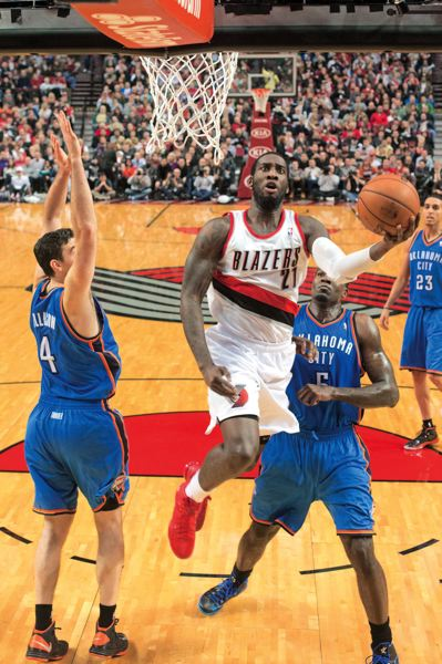 by: TRIBUNE PHOTO: CHRISTOPHER ONSTOTT - Hard-working Trail Blazers center J.J. Hickson is more likely to finish the season in Portland if the Blazers look like a playoff contender at the NBA trading deadline.