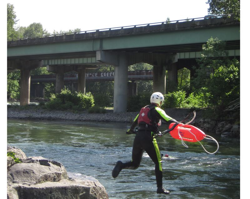 by: PHOTO COURTESY: AMR - American Medical Response  provides a lifeguard-safety program at High Rocks, a regionally popular Clackamas River swimming hole between Gladstone and Oregon City.