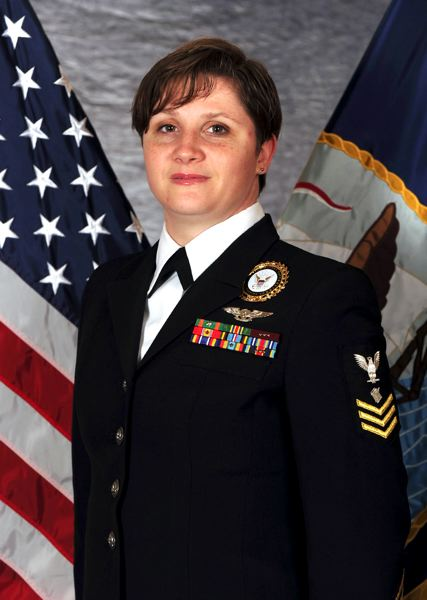 by: CONTRIBUTED PHOTO  - Spc. 1st. Class Petty Officer Kerri Scranton was given a national award by the Navy.