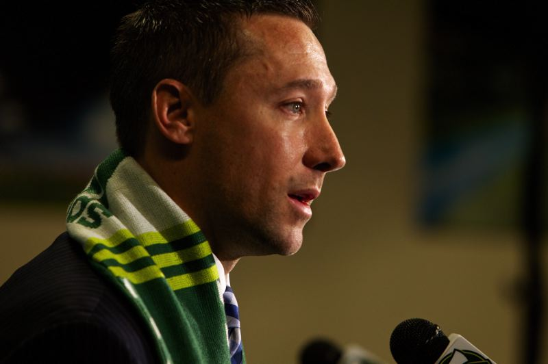 by: CRAIG MITCHELLDYER/PORTLAND TIMBERS - New coach Caleb Porter says the Portland Timbers are making progress as their third MLS season approaches.