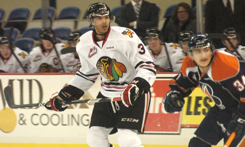 by: PAMPLIN MEDIA GROUP: DAVID BALL - Seth Jones and the Winterhawks' back line held Kamloops scoreless through the final 43 minutes, after having shut out Portland previous three opponents.