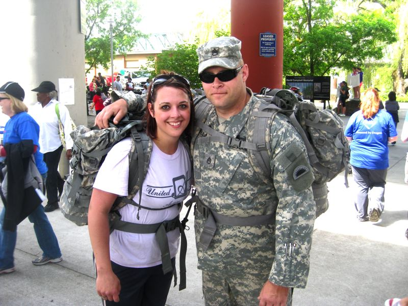 by: CONTRIBUTED PHOTO - Mindy Rocha-Barella with her husband, Staff Sgt. Thomas Barella.