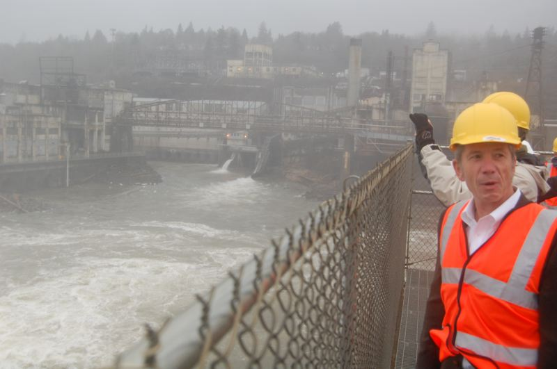 by: PHOTO BY: RAYMOND RENDLEMAN - U.S. Congressman Kurt Schrader sees potential for a San Franscisco-style waterfront in Oregon City and supports an effort to name the Willamette Falls a national historic area.