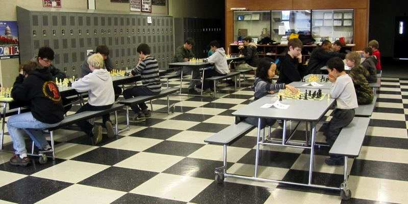 by: CONTRIBUTED PHOTO: RACHEL ALTMANN - More than 20 students, half from Corbett and half from other communities, have gathered the past three years for a chess tournament benefiting Fanconi anemia research.