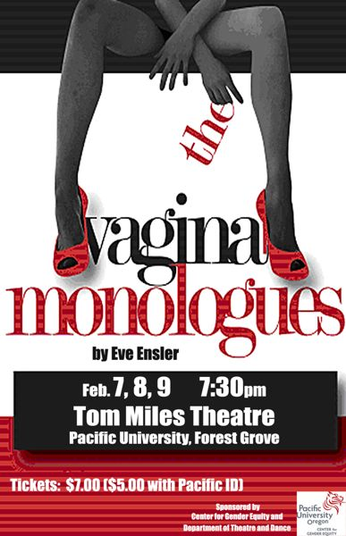 by: COURTESY PHOTO - Eve Ensler first staged The Vagina Monologues in 1996. Since then, its become a popular Valentines Day production on college campuses, including Pacific University.