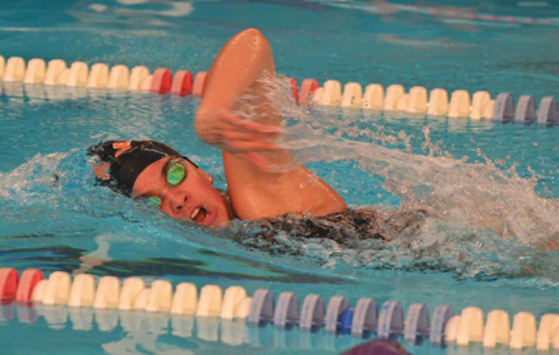 by: JOHN BREWINGTON - Scappoose's Stefany Alvarez won the girls 200 freestyle Friday and the Lady Indians won their fourth straight Cowapa League championship. Sadie Krahn had a first in the 500 free.