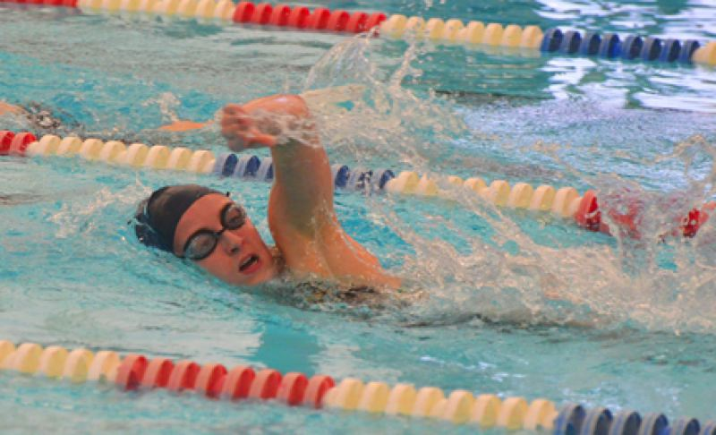 by: JOHN BREWINGTON - St. Helens' Emily Spears won the 100 freestyle, took second in the 200 free, and was on two relay teams for the Lady Lions in their win over visiting Sherwood on Thursday.