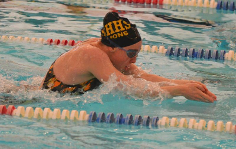 by: JOHN BREWINGTON - St. Helens' Jackie Prevish won the 100 breast and the 50 free during last week's meet with Sherwood.