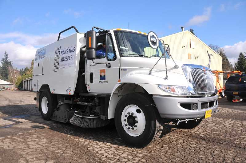 by: VERN UYETAKE - The city's newest street sweeper needs a name.